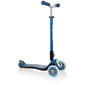 Globber Elite Prime Scooter with battery-free LED wheels flash Kids navy blue